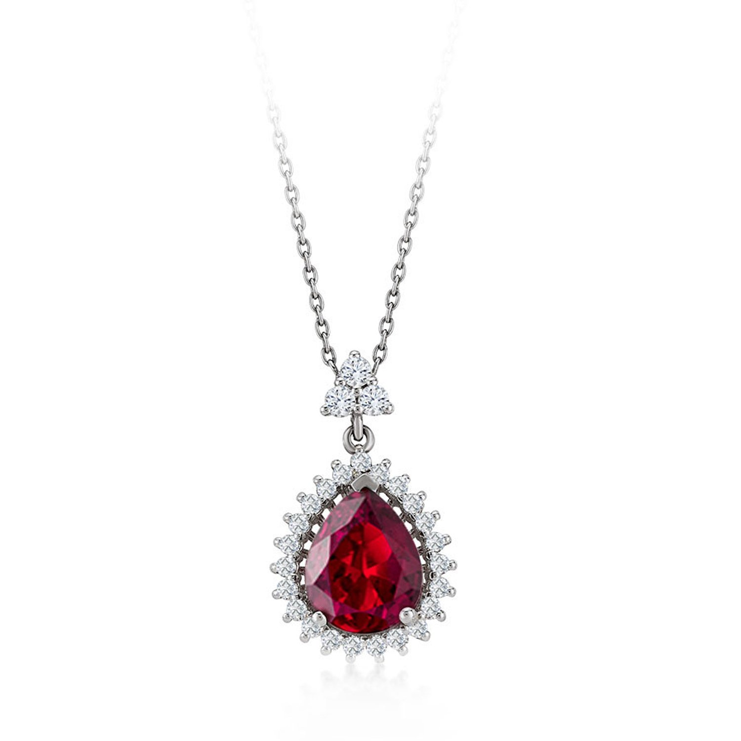 Diamond Ruby Necklaces