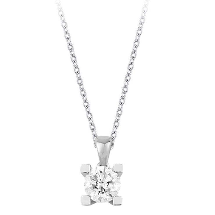 Diamond Solitaire Necklaces