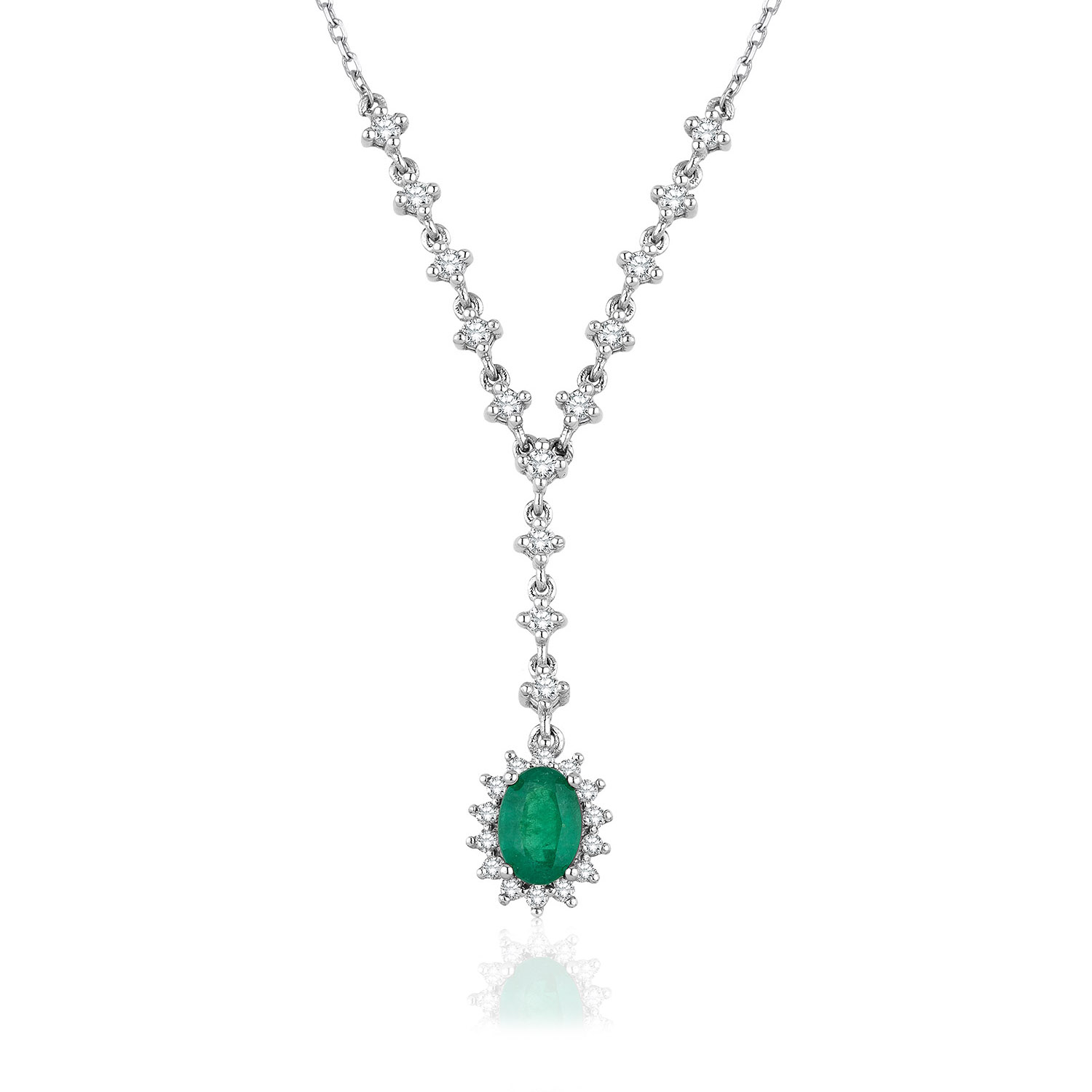 Diamond Emerald Necklaces
