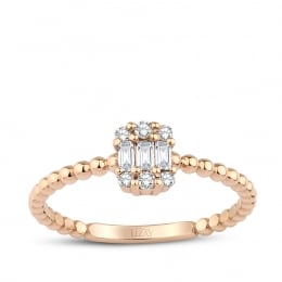 0.14 Carat Diamond Baguette Ring