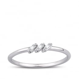 0.05 Carat Diamond Baguette Ring