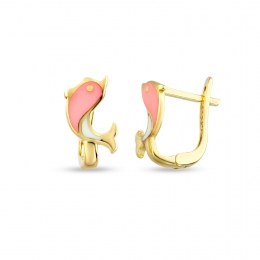 Gold Fish Child Earrings