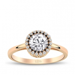 Gold Engagement Fancy Ring