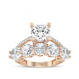 Gold Solitaire Five Stoned Ring