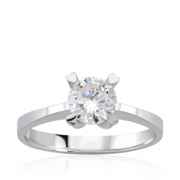14K Gold Solitaire Ring
