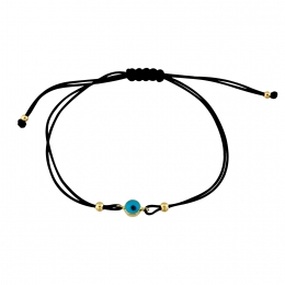 Gold Evil Eye Beaded Rope Bracelet