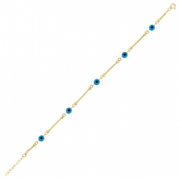 Gold Trend Evil Eye Bead Bracelet