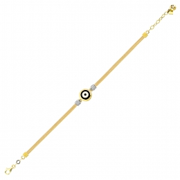 Gold Evil Eye Bead Bracelet