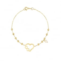 14K Gold Heart and İnfinity Bracelet