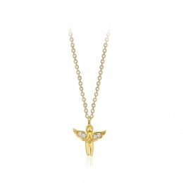 Angel 14K Gold Pendant