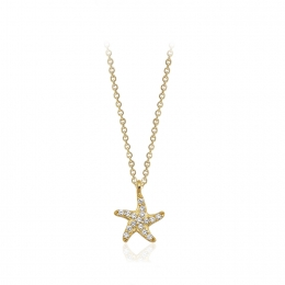 Star 14K Gold Pendant