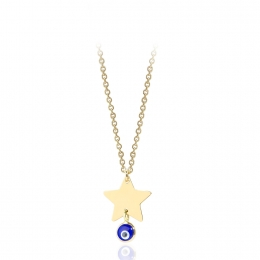 Evil Eye Star Pendant