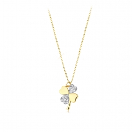 Gold Clover Luck Necklace