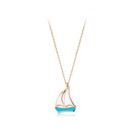 Gold Sail Necklace