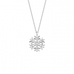 Gold Stone Snowflake Necklace