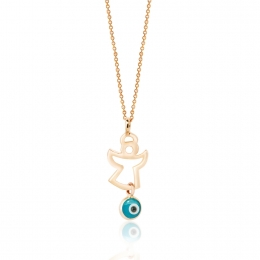 Evil Eye Angel Pendant