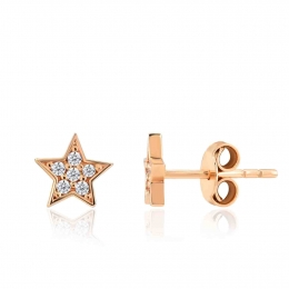 14K Gold Star Earring