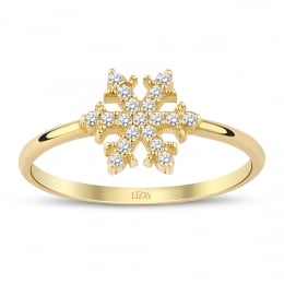 Gold Snowflake Trend Ring
