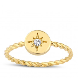 Gold Sun Trend Ring