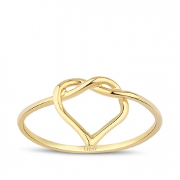 Gold Heart Trend Ring