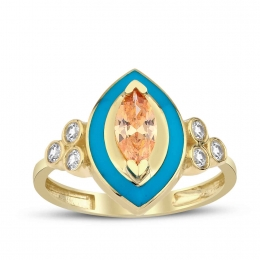 Gold Marquise Stone Ring