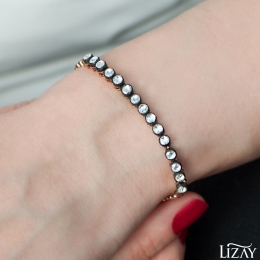 0.81 Carat Rose Cut Diamond Bracelet