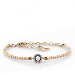 Rose Cut Diamond Solitaire Bracelet
