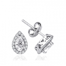 Rose Cut Diamond Diamond Drop Earring