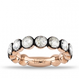 2.43 Carat Rose Cut Diamond Eternity Band Ring