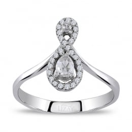0.34 Carat Diamond Rose Cut Diamond Ring