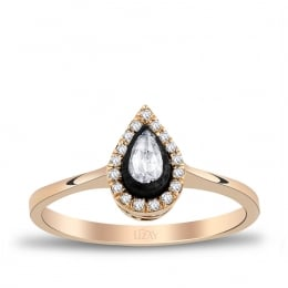 0.22 Carat Diamond Drop Ring