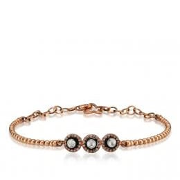 Rose Cut Diamond Three Stone Bracelet