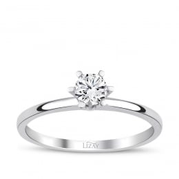 0.40 Carat G Color HRD Certified Diamond Engagement Ring