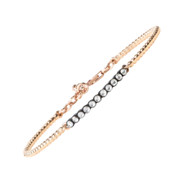 0,26 Carat Rose Cut Diamond Bangle Bracelet