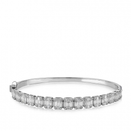 Baguette Diamond Bangle Bracelet