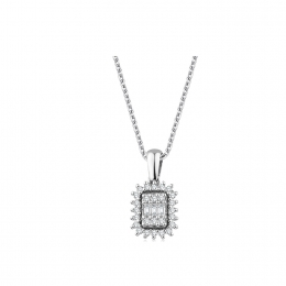 0.22 Carat Diamond Baguette Necklace