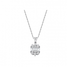 0.43 Carat Diamond Necklace