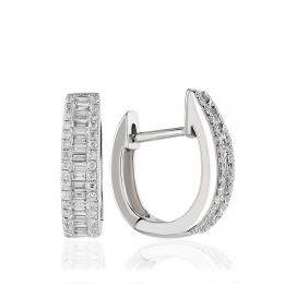 Baguette Diamond Earring