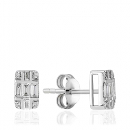 0.25 Carat Baguette Diamond Earring