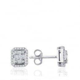 0.36 Carat Diamond Baguette Earrings