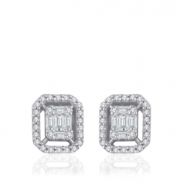 0.30 Carat Baguette Earrings With Diamonds
