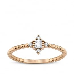 0.11 Carat Diamond Baguette Ring