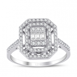0.38 Carat Diamond Baguette Ring