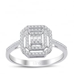 0.29 Carat Diamond Baguette Ring