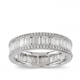 2.04 Carat Diamond Baguette Eternity Band Ring