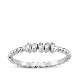 0.12 Carat Diamond Baguette Rings