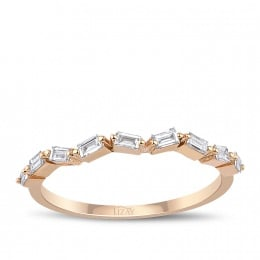 0.24 Carat Diamond Baguette Ring