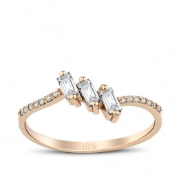 0.28 Carat Diamond Baguette Ring