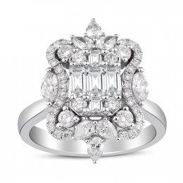 1.42 Carat Diamond Baguette Ring