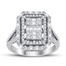 1.09 Carat Diamond Baguette Ring
